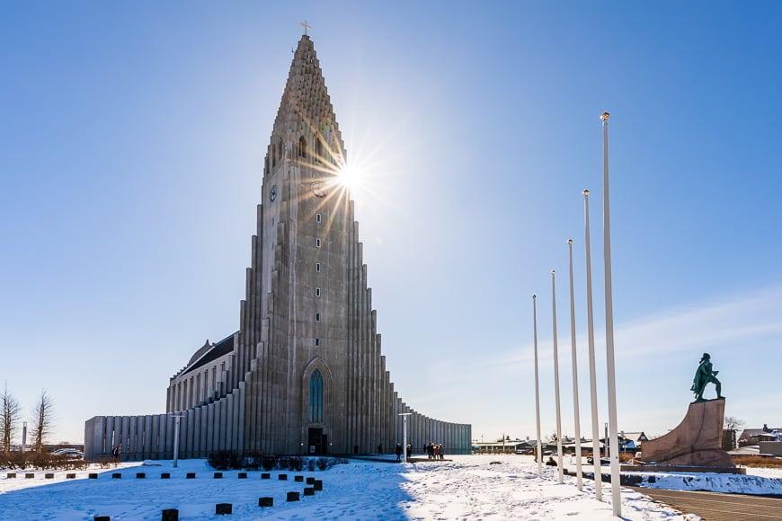 Hallgrimskirkja Church - unique landscapes in Iceland.