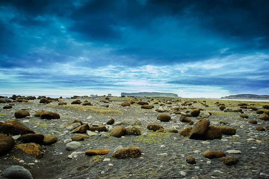Stampahraun lava fields are situated on the tip of the southern peninsular where is Iceland.
