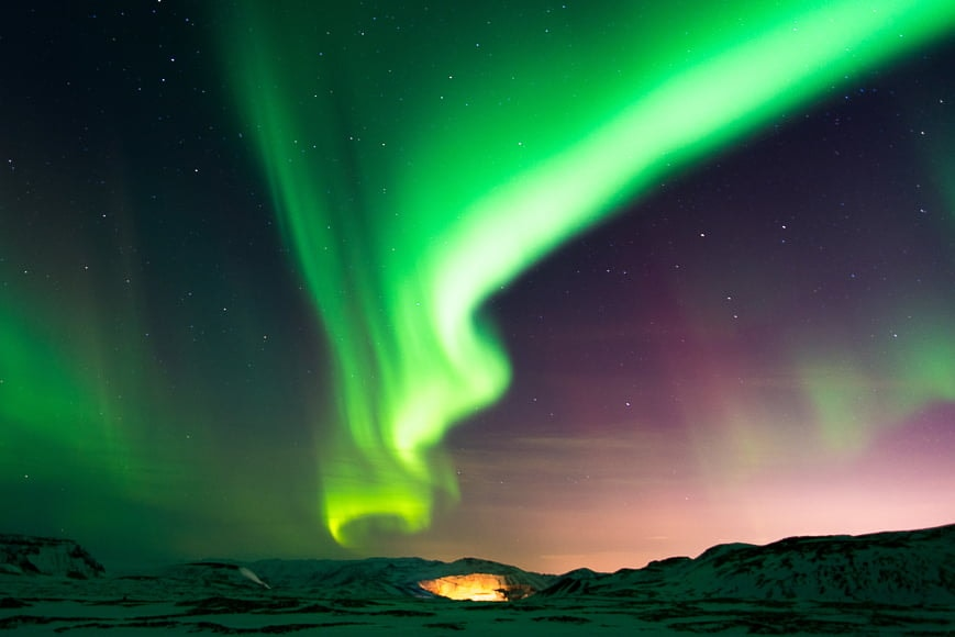 Where to photograph the Northern Lights or Aurora Borealis in Iceland.
