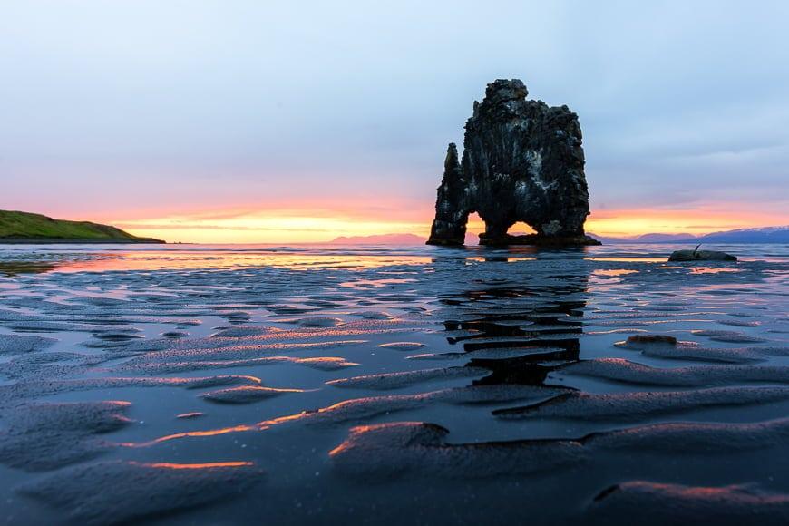 Hvítserkur - beautiful landscapes of Iceland.