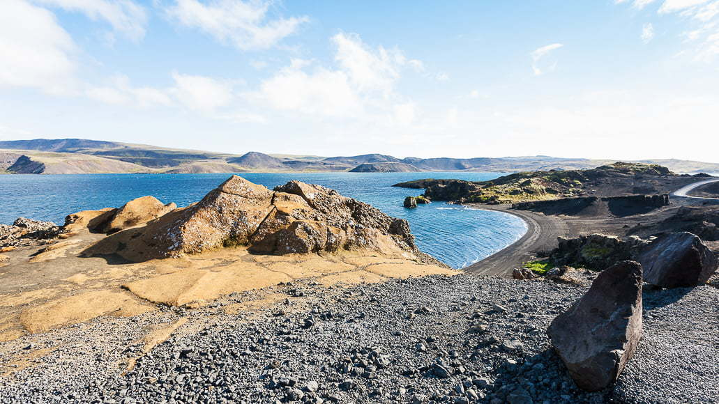 Kleifarvatn is the largest body of water in the Reykjanes Peninsula.