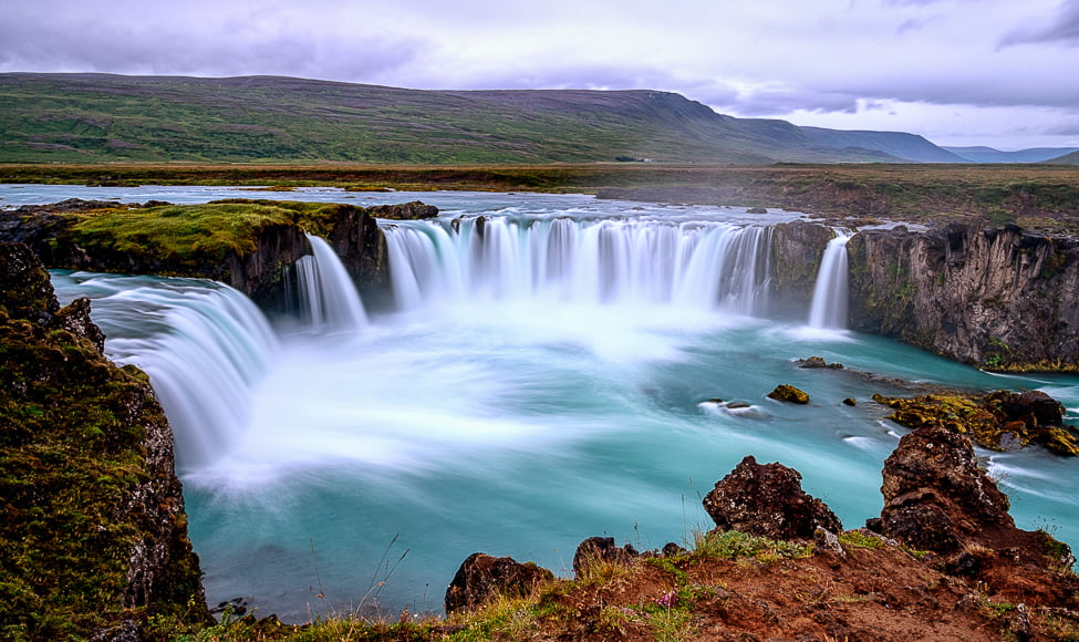 Goðafoss, or Waterfall of the Gods as it's otherwise known, is a significant falls in Iceland.
