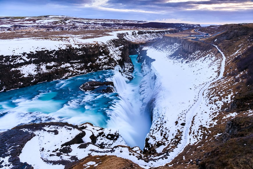 Gullfoss Falls is among the most beautiful Icelandic landscapes to photograph.