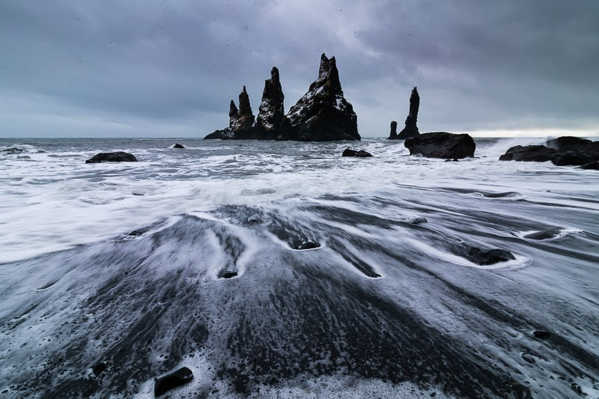 Black sand beaches make for some of the most photographable Icelandic landscapes.