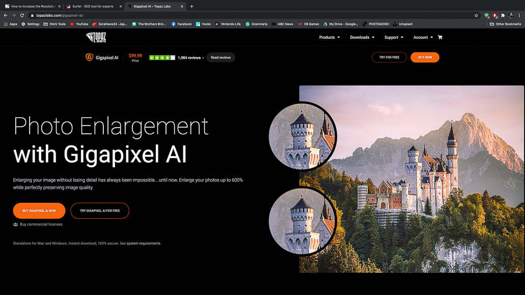 Gigapixel AI can be used to increase the resolution of a photo. Change the resolution of your image size to high resolution with image editing software.