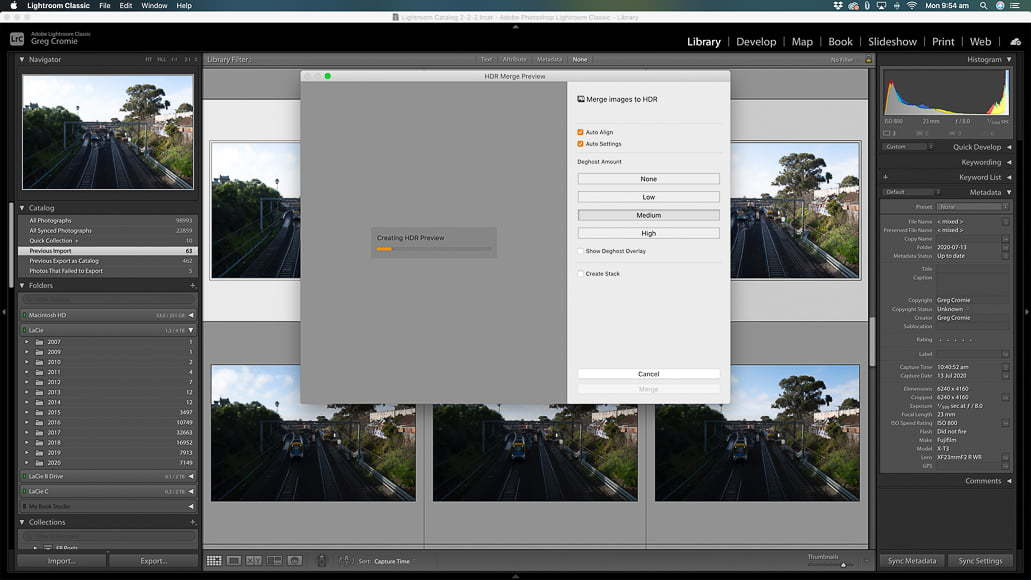 photoshop lightroom cc with hdr merge