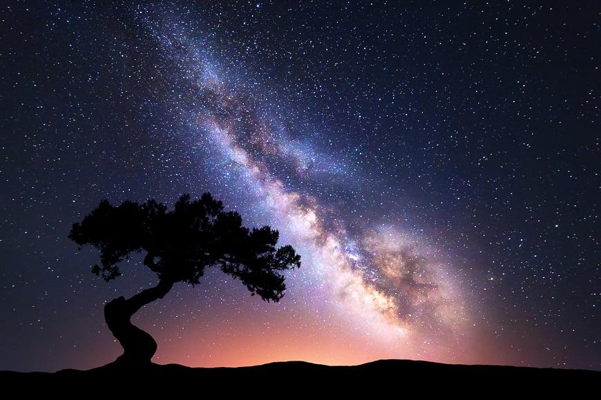 full frame image at high iso shooting at night sky