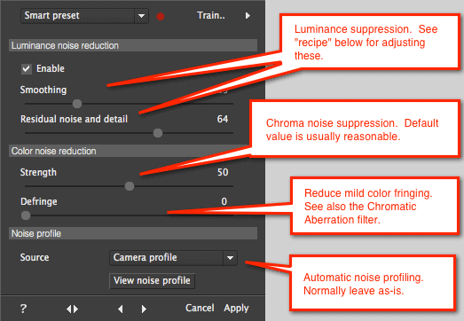 Best noise reduction software detail slider - noise reduction slider options in photo ninja.