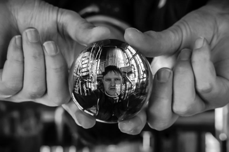 Crystal ball photo.