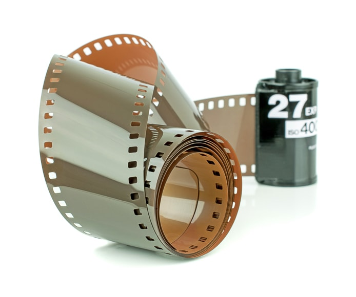 Film technology that came before digital.