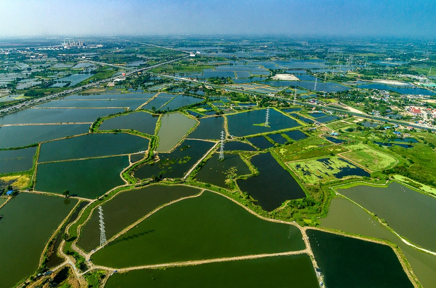 Aerial landscape photography.