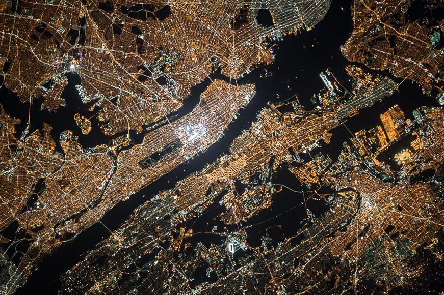Satellite image by NASA.