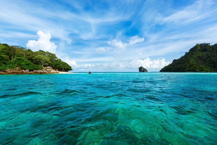 Seascape of blue ocean.