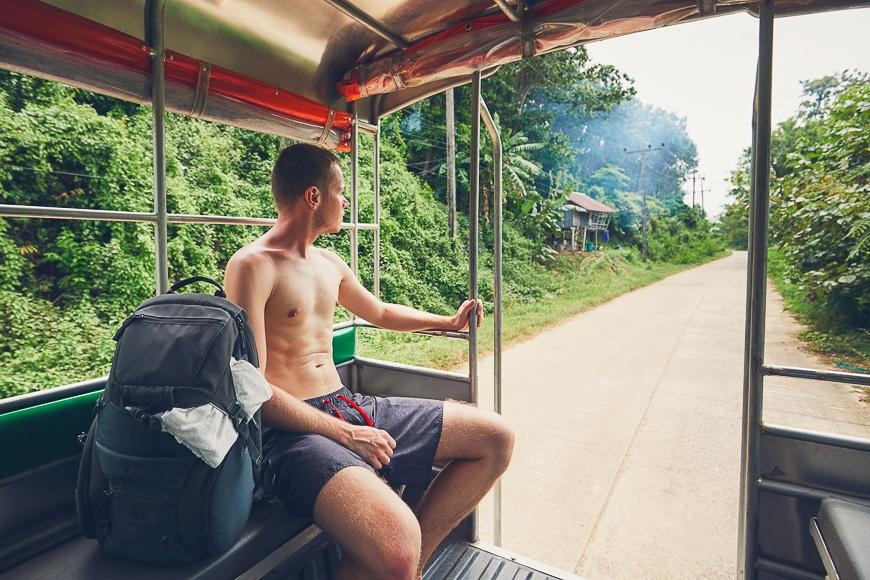 Travel through Asian landscape.