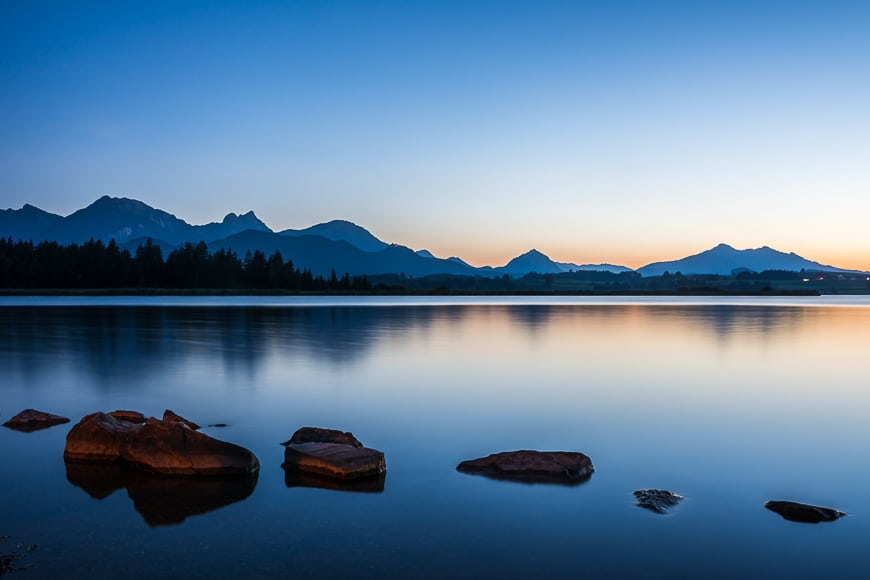 Some types of photographers prefer shooting at blue hour.