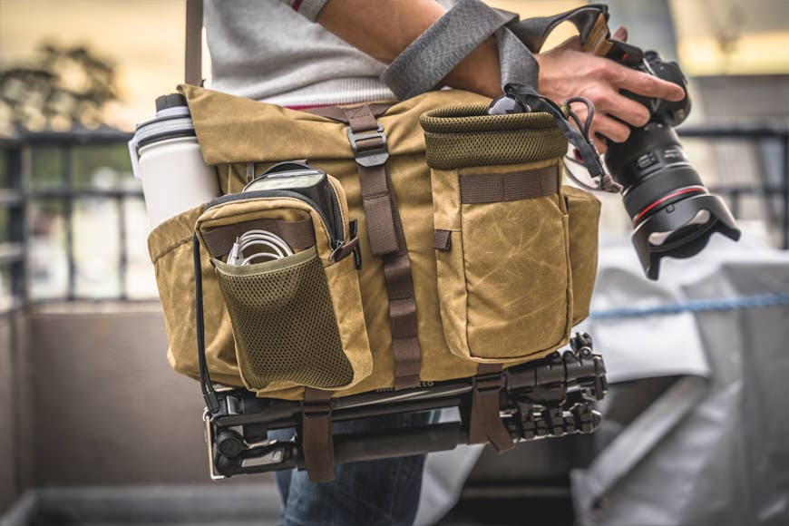 It's pretty awesome how much fits on and in the Pilot M once you tack on a pair of MOLLE modules. If you had some carabiner clips you'd be able to attach even more outside!