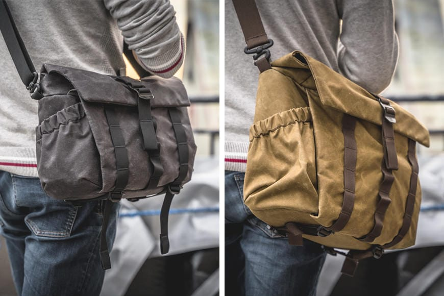 The Pilot lightweight camera bags are quite comfortable to wear and sit nicely against your body.