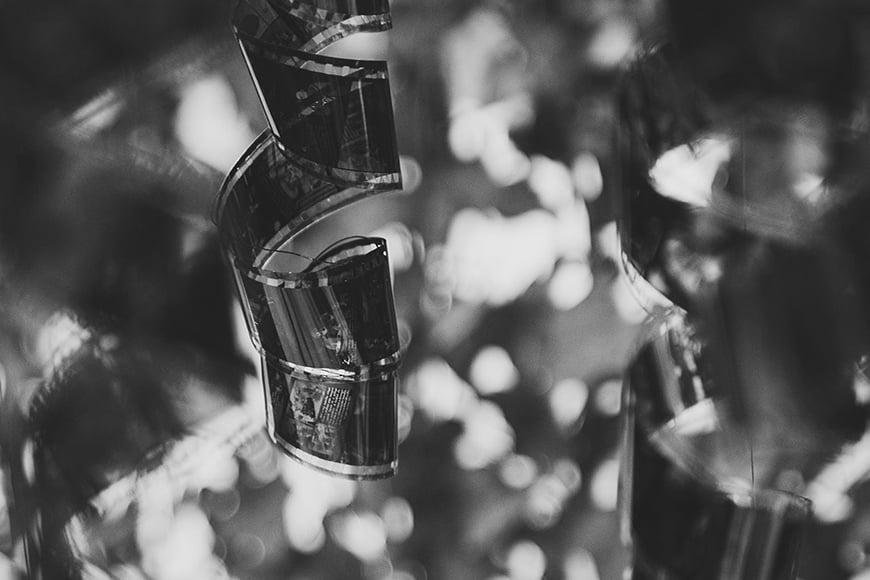 35mm film strip black and white