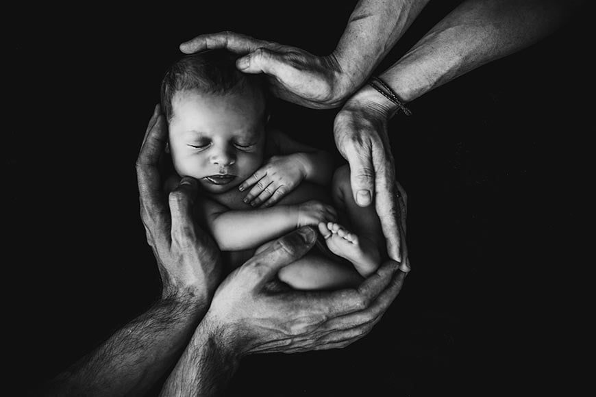 Even the simplest newborn photography prop can create a stunning effect in newborn photos.