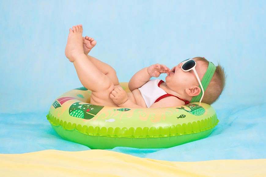 Seasonal newborn photography props are easy to find.