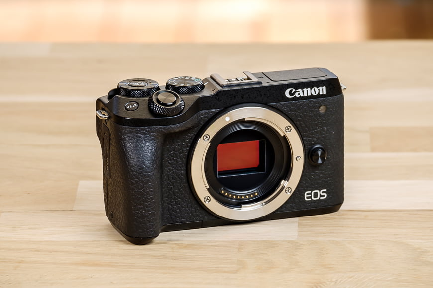 The Canon EOS M6 Mark II has a nice design and great build quality.