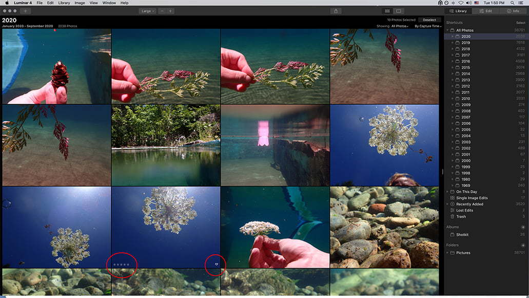 open images in luminar
