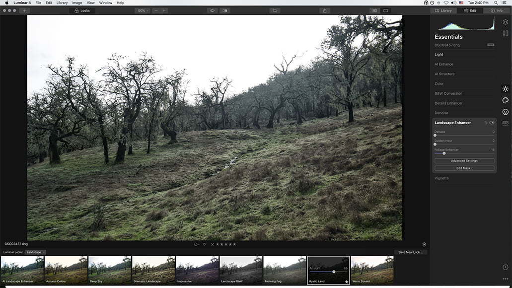 luminar image from video screengrab