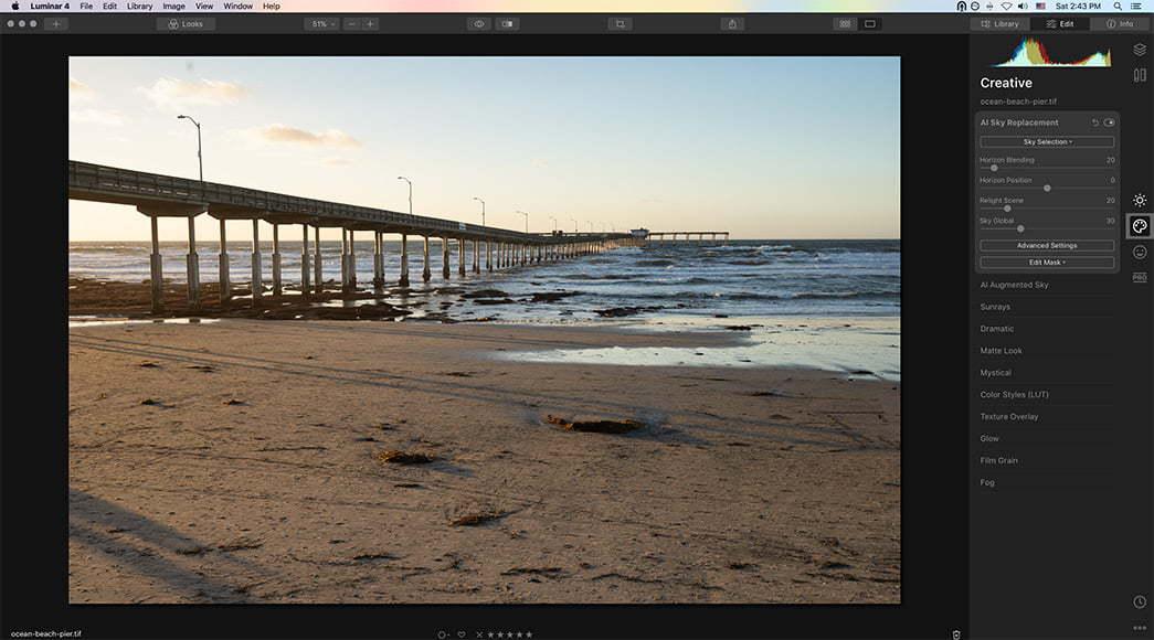 Edit beach photo
