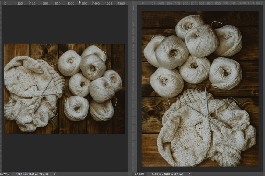 You can also flip an image in Photoshop from vertical to horizontal, or portrait to landscape.