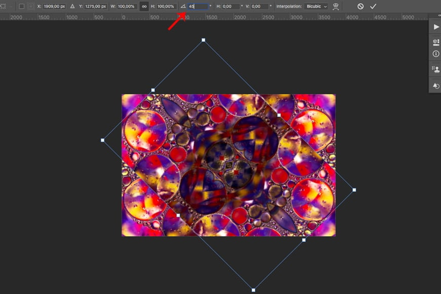 You can also rotate your image 45 degrees for added effect.