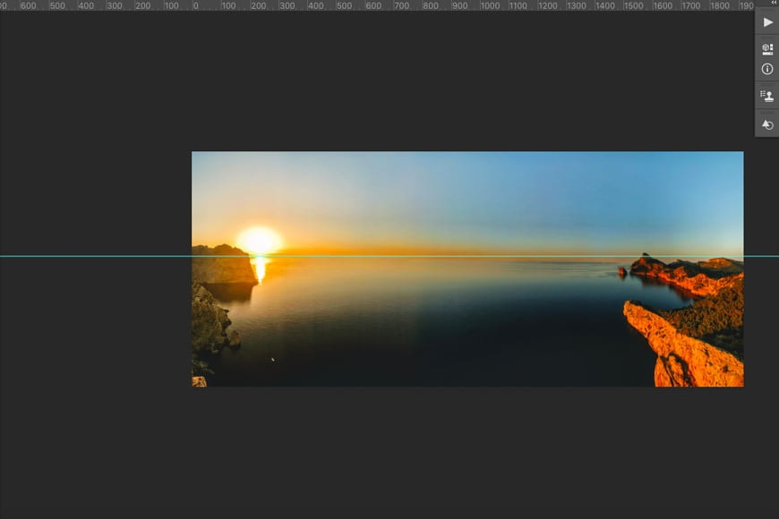 Step 1- Open your photo in Photoshop and then create a guide.