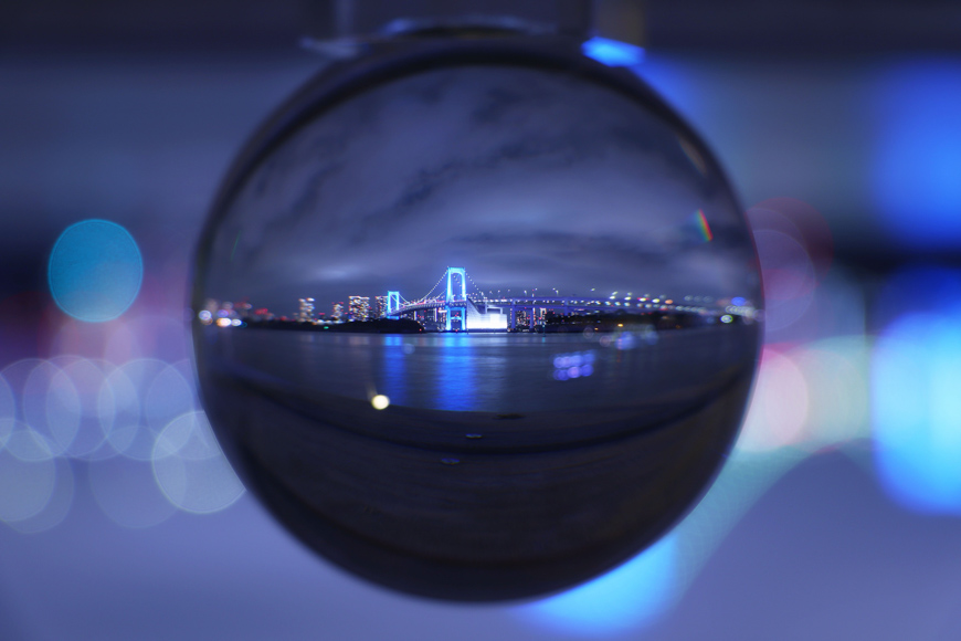 Using crystal balls to capture building and architecture locations creates striking results.