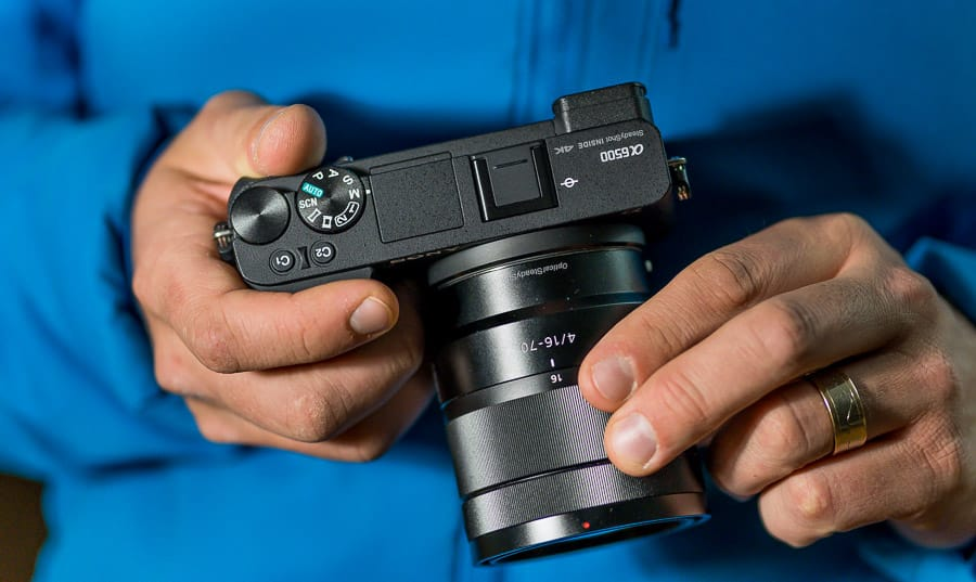 Sony Alpha 6500 features a rotating screen