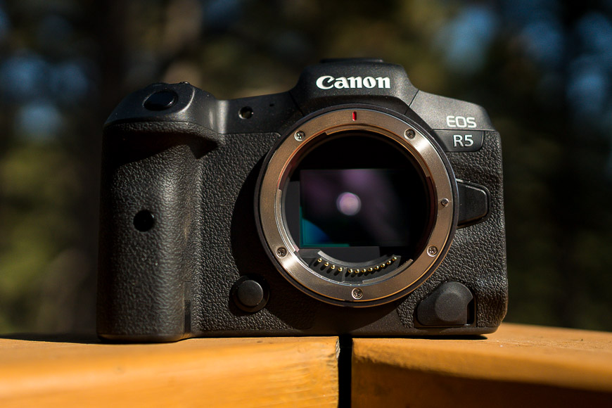 The Canon EOS R5 is very well built.