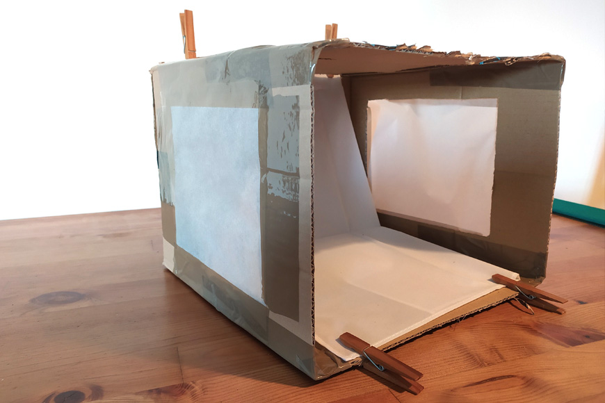 Your photo light box project requires a backdrop for clean product photographs.