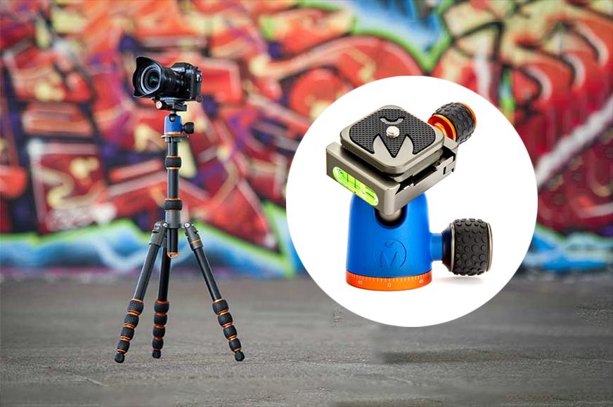 FESSLAND Travel Camera Tripod Photography Dual Color Carbon Fiber Slide Track Tripod Slide Track.
