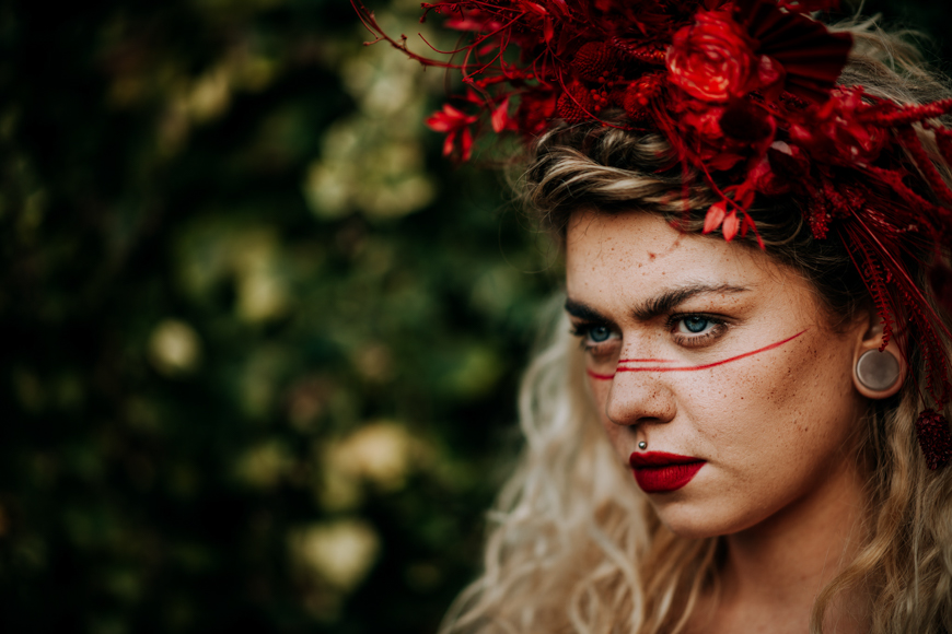 You can use a telephoto lens with a shallow depth of field to create bokeh in portraits.