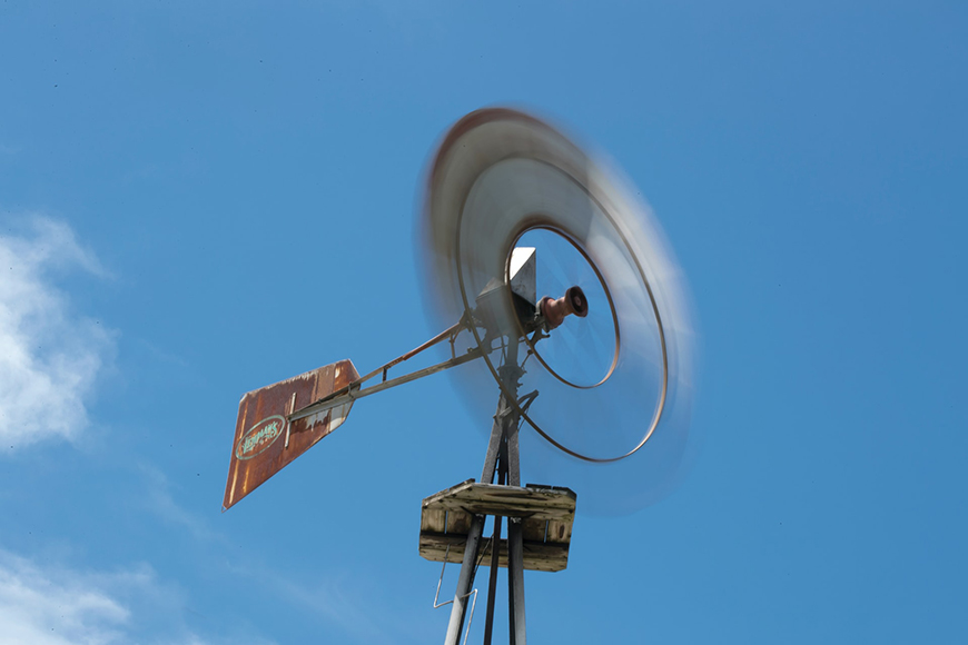Photography basics - windmill caught in motion with a slow shutter speed