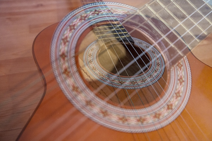 photography - double exposure with a guitar