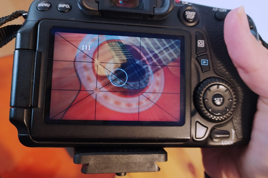 Photography - close up of an LCD screen