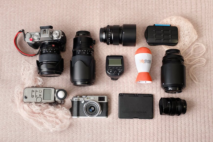 Newborn photography gear shot