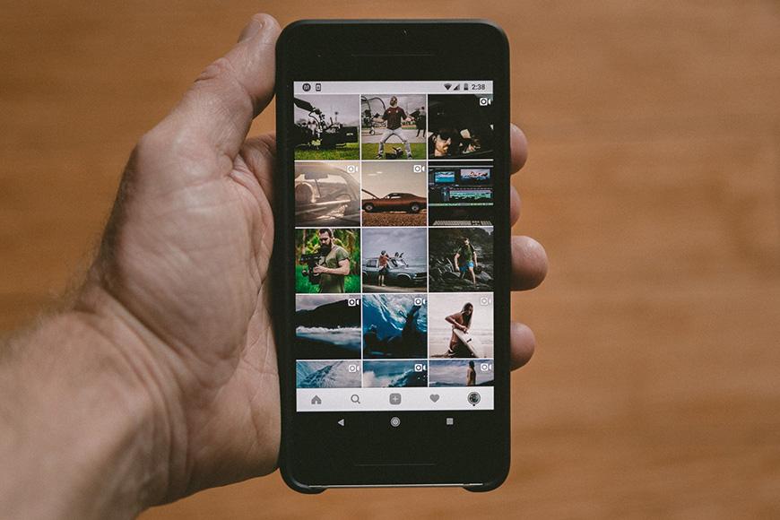 Photos shown on an iPhone screen