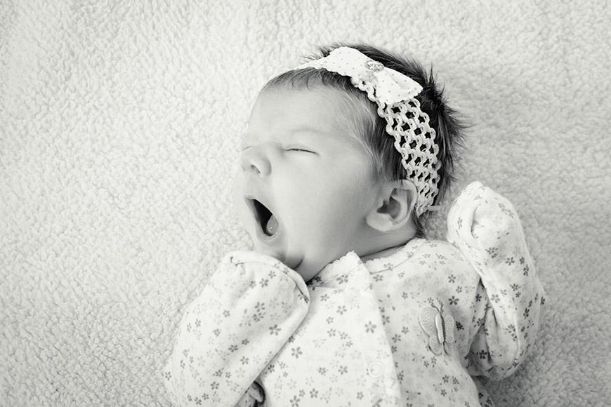 Infant yawning