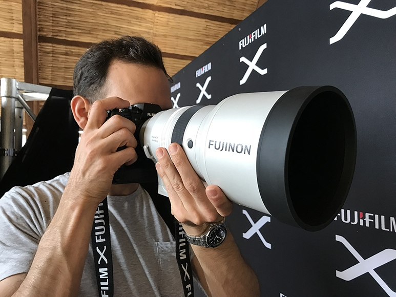 Telephoto length lenses can get very large in size.