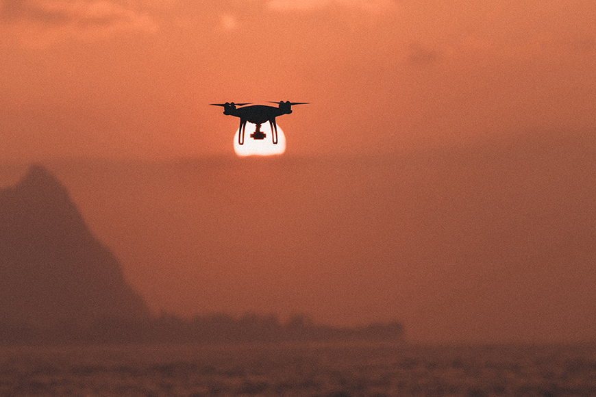 When using drones in photography, light is critical.