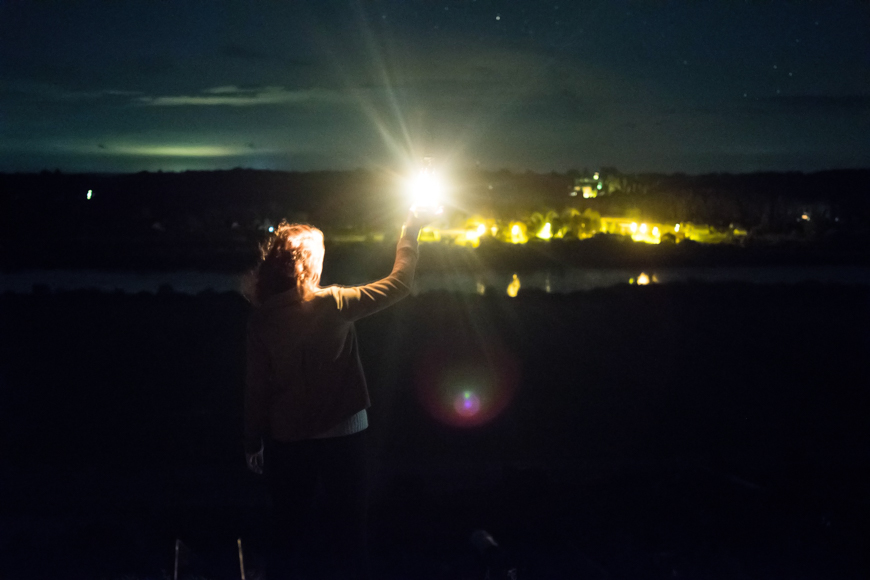 Artificial light instead of sun can be used as a source for flares.