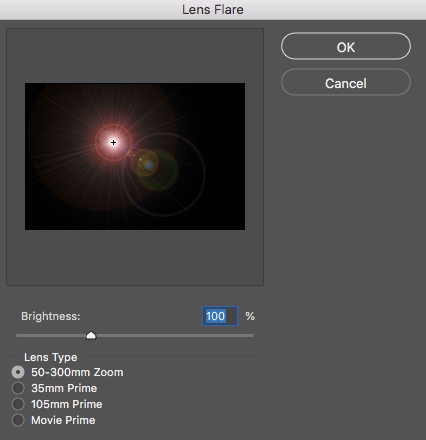 How to create an artificial sun flare in Photoshop.