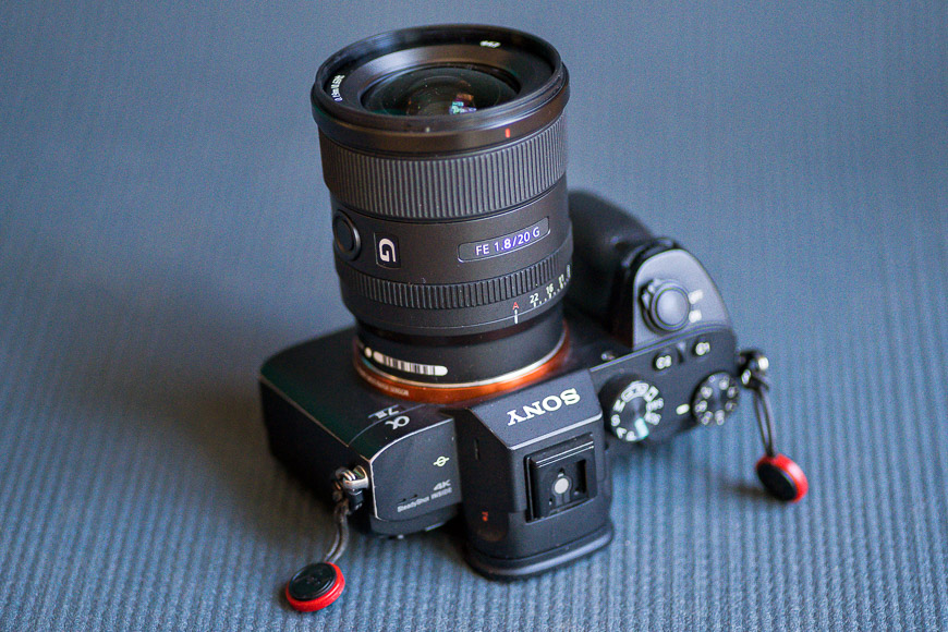The Sony 20mm f/1.8 is an impressive lens.