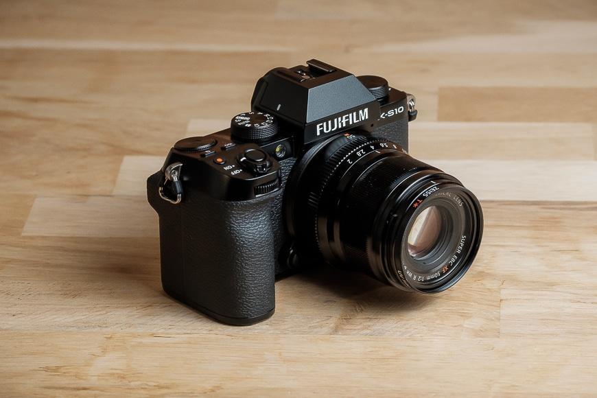 Fujifilm X-S10 with a smaller F2 prime