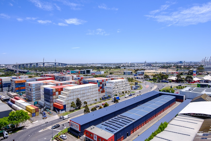 Above ground shot of Melbourne industrial area